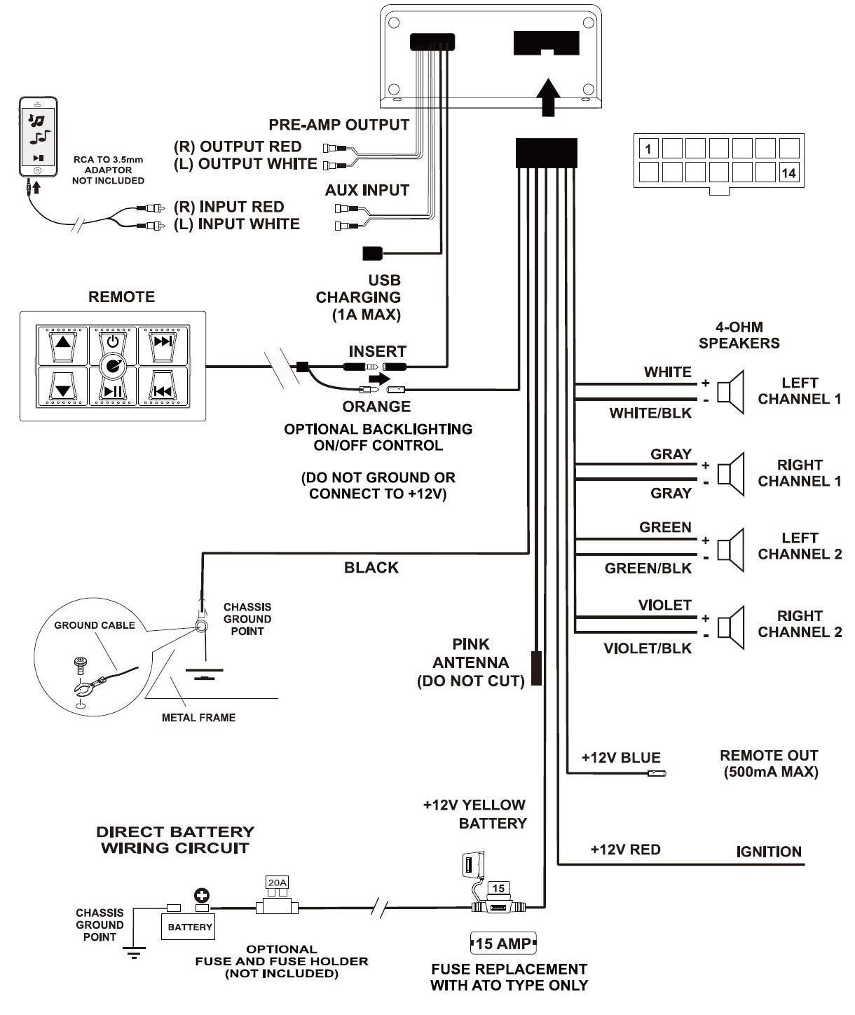 planet audio 5 channel amp wiring diagram  diagram  auto
