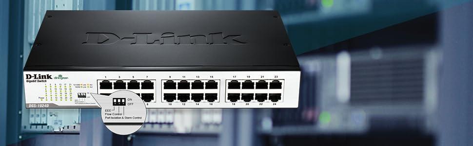 DGS-1024D: 24-Port Gigabit Unmanaged Desktop/Rackmount Switch