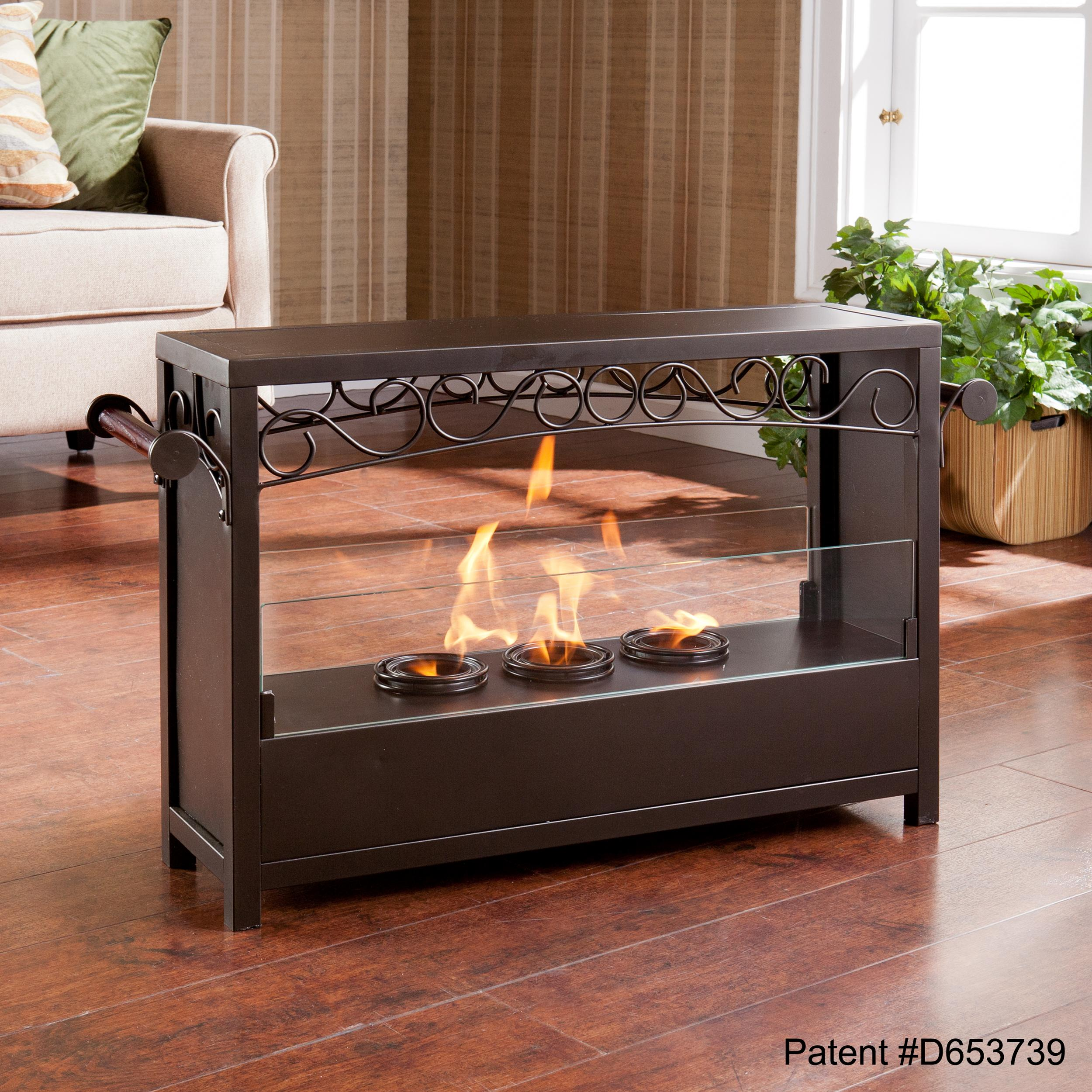 View larger for Indoor outdoor fireplace