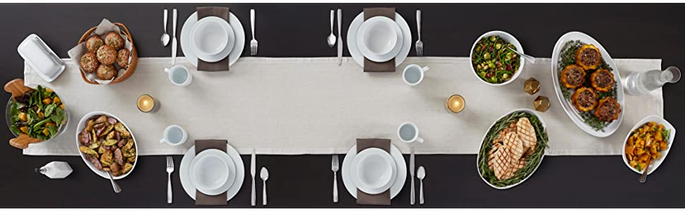 16Pc Dinnerware Dining Set Modern White Porcelain Dinner  : 3192e02f e596 4575 add3 9b3f412f237dCB301175589SR970300 from www.ebay.com size 970 x 300 jpeg 63kB