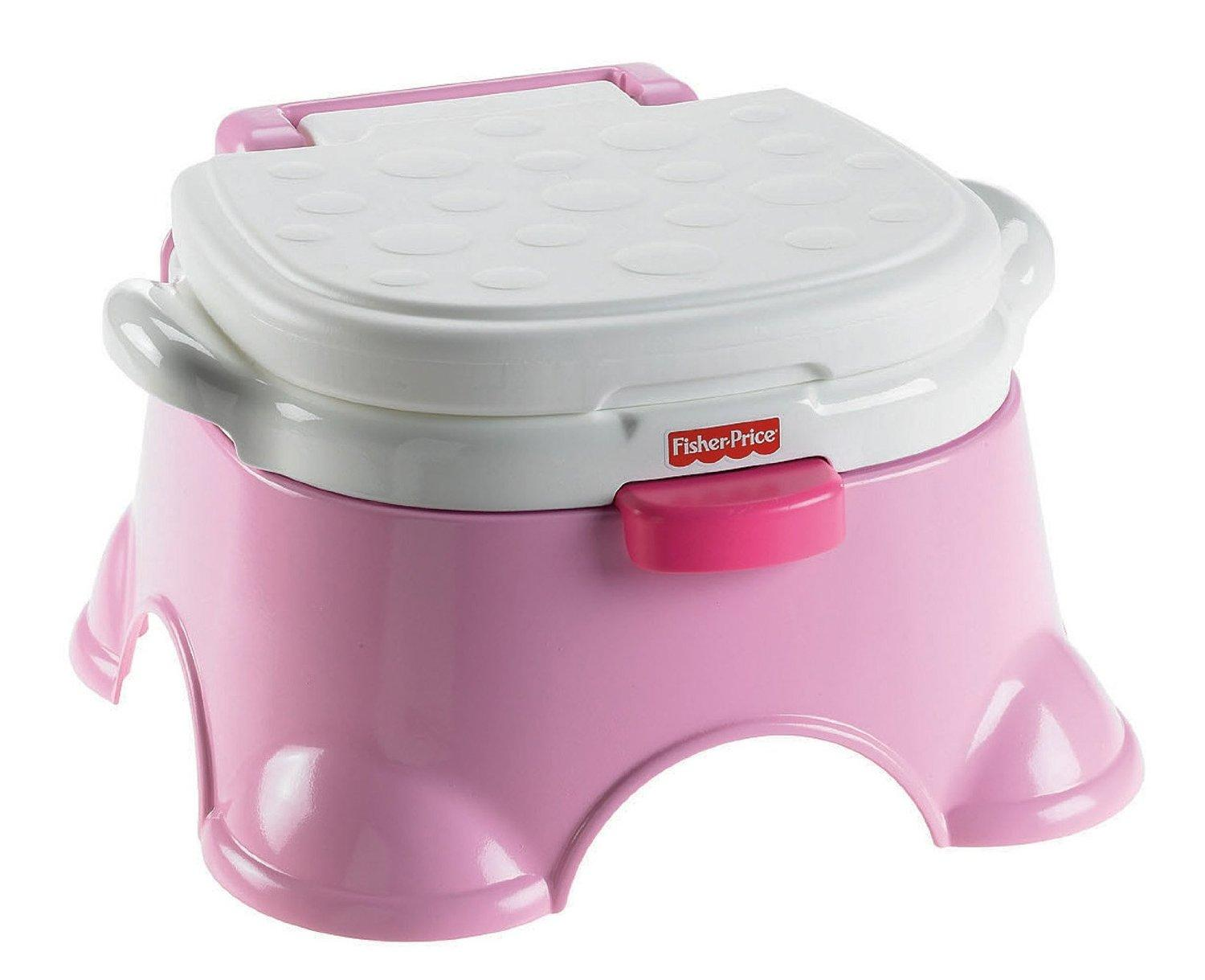 Com fisher price royal stepstool potty princess pink toilet