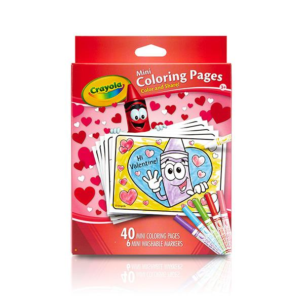 Amazon Crayola Valentine 39 s Day Mini Coloring Pages