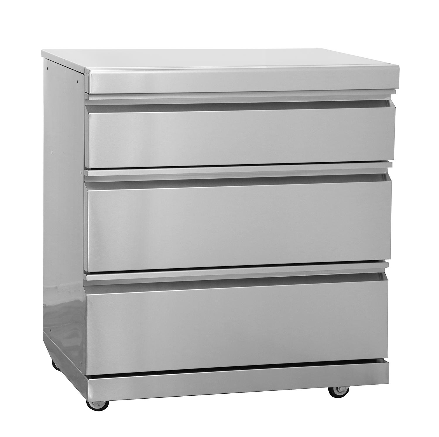 swiss grill msdraw 3 drawer module with lock