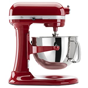 com kitchenaid kp26m1xnp professional 600 series 6 quart stand mixer