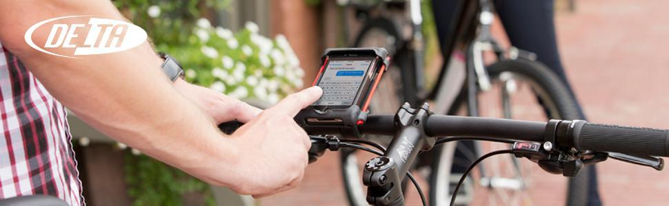 delta cycle bicycle bike phone holder mount caddy