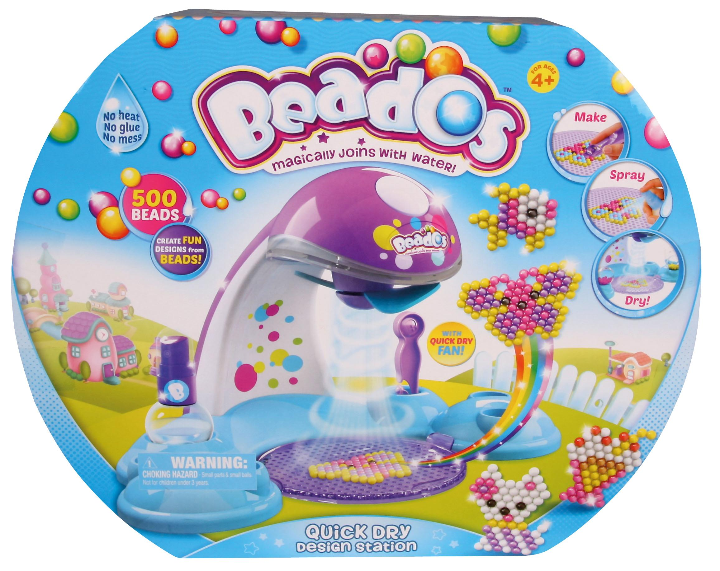 Girl Beados Toys : Beads spray quick dry fan design station display