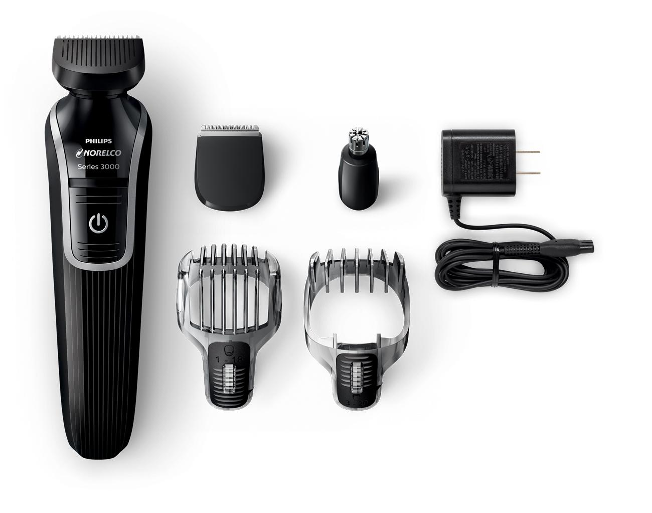 phillips norelco multigroom grooming beard trimmer rechargeable shaver kit ear ebay. Black Bedroom Furniture Sets. Home Design Ideas