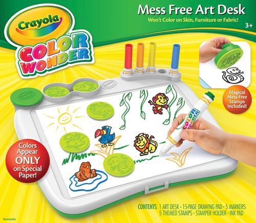 Amazon Com Crayola Color Wonder Art Desk With Stamper