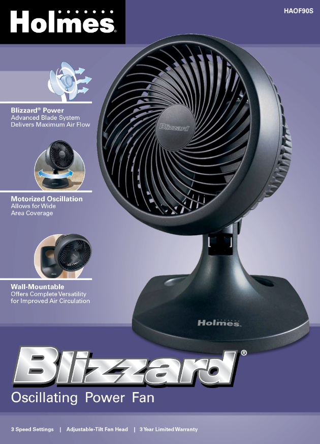 Blizzard Oscillating Fan : View larger