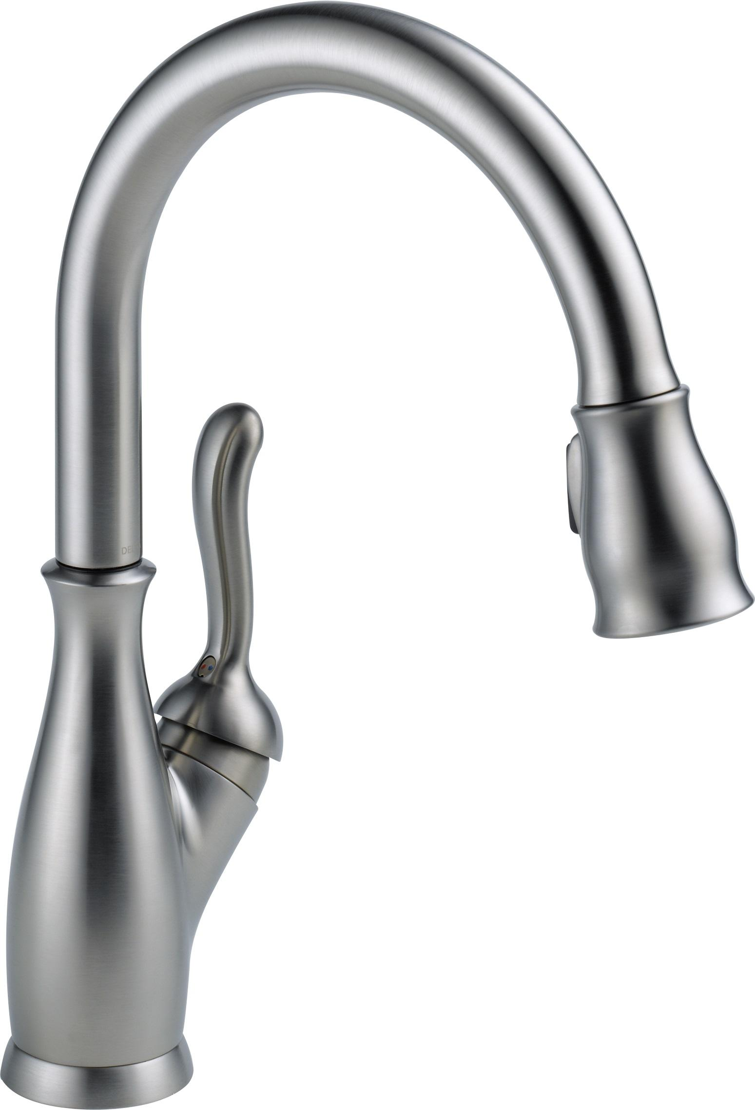 delta faucet 9178 rb dst leland single handle pull down magnetic kitchen faucet kitchen faucet magnetic