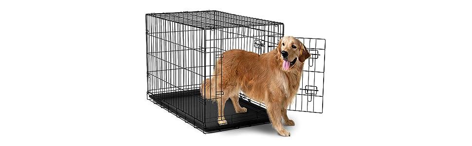 Oxgord 30 large dog crate double doors for Double door with dog door
