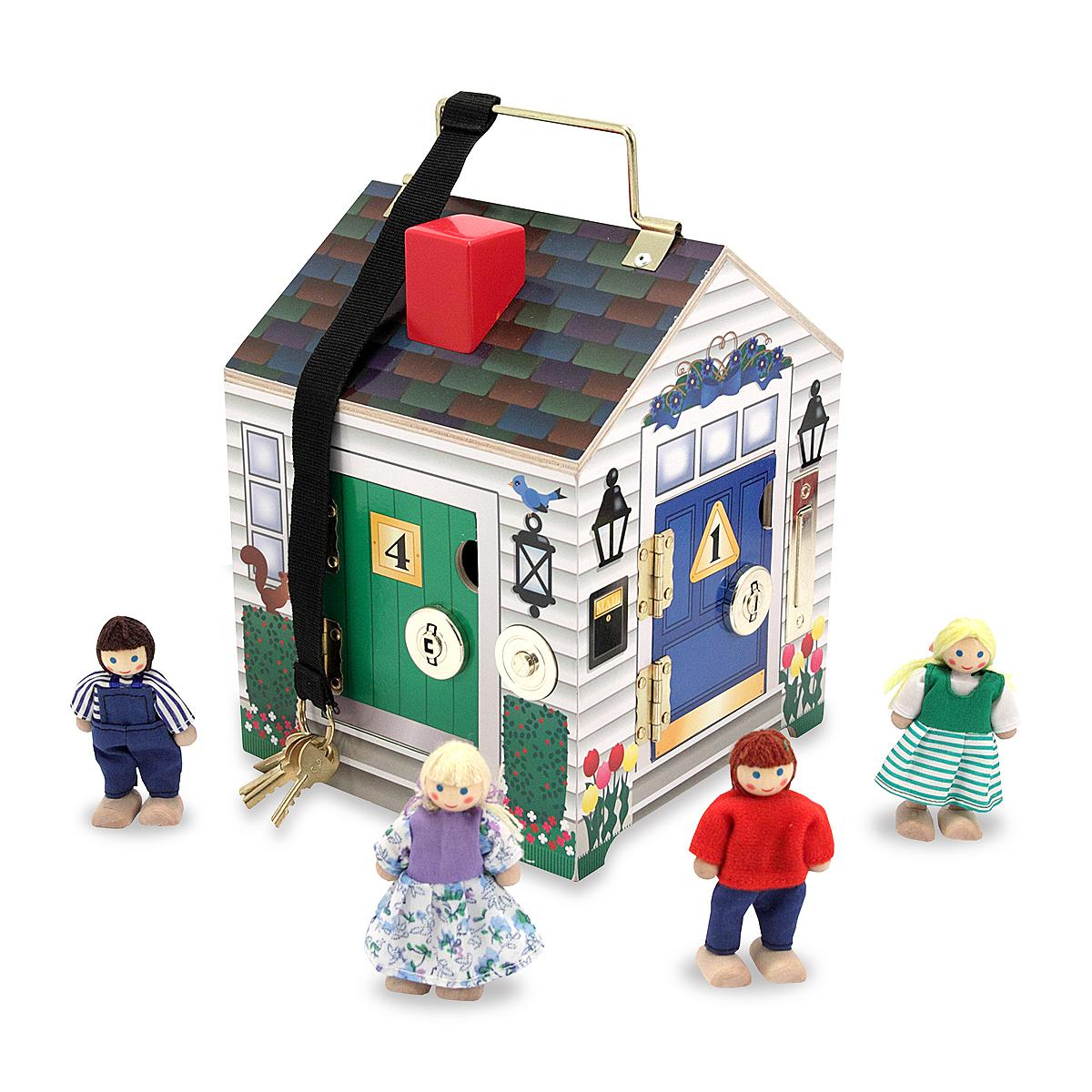 Melissa And Doug Toys : Dollhouse travel take along toy play house