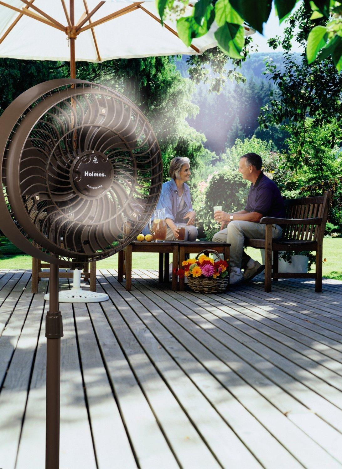 Outdoor Water Cooling Fans : Outdoor misting fan cooling water portable mist spray