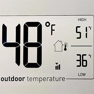 temperature, outdoor temperature