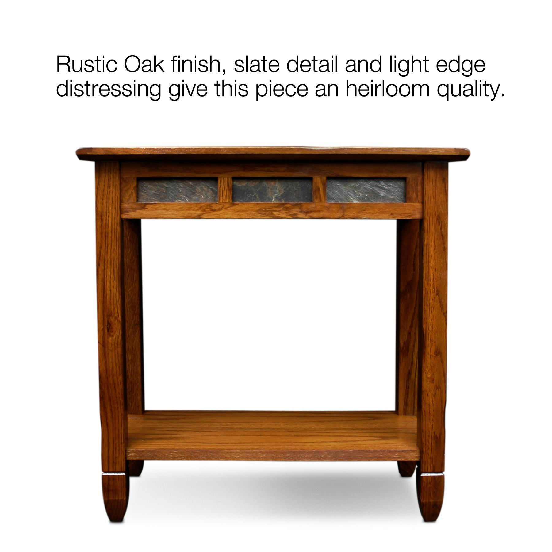 10060 Rustic Oak Chairside Table Rustic Oak Finish Distressed Running . Full resolution‎  portrait, nominally Width 1800 Height 1800 pixels, portrait with #793B0F.