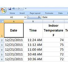 weather station csv, data file weather