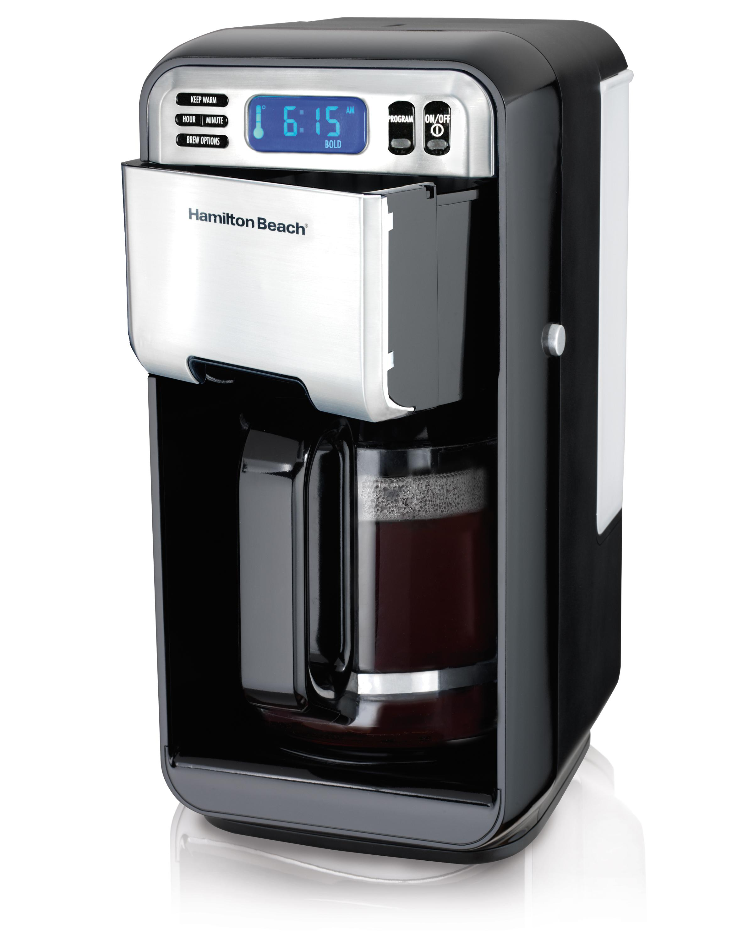 Cleaning Large Coffee Maker : Amazon.com: Hamilton Beach 12-Cup Digital Coffee Maker, Stainless Steel (46201): Drip ...