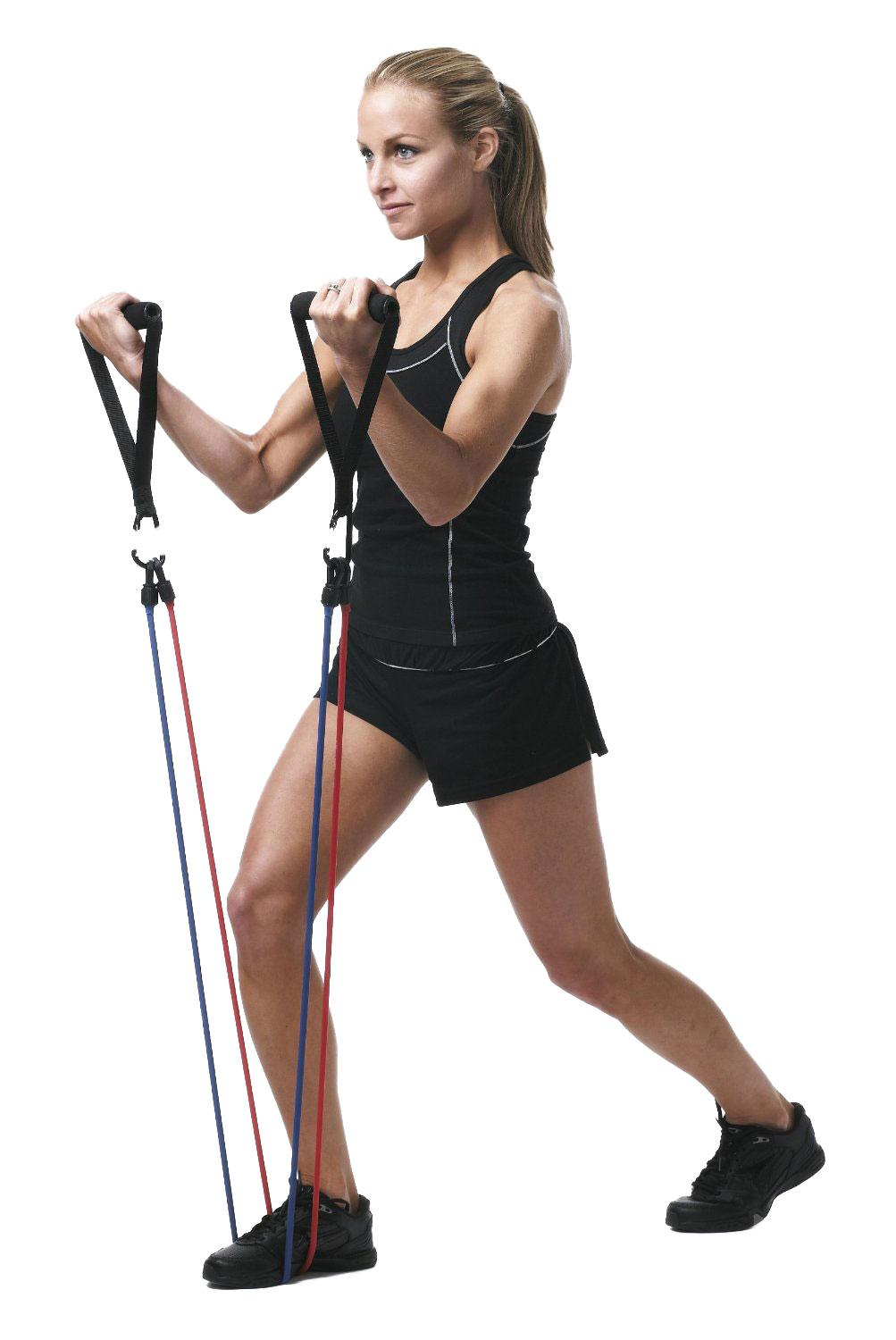 Plus, resistance bands are a snap to store! Using the Right Resistance Bands. Resistance bands should be chosen based on your existing strength in the muscle groups being targeted. When performing the exercise, the band should be secured so that the length of the band is adjusted to give resistance even at the bottom of the exercise.