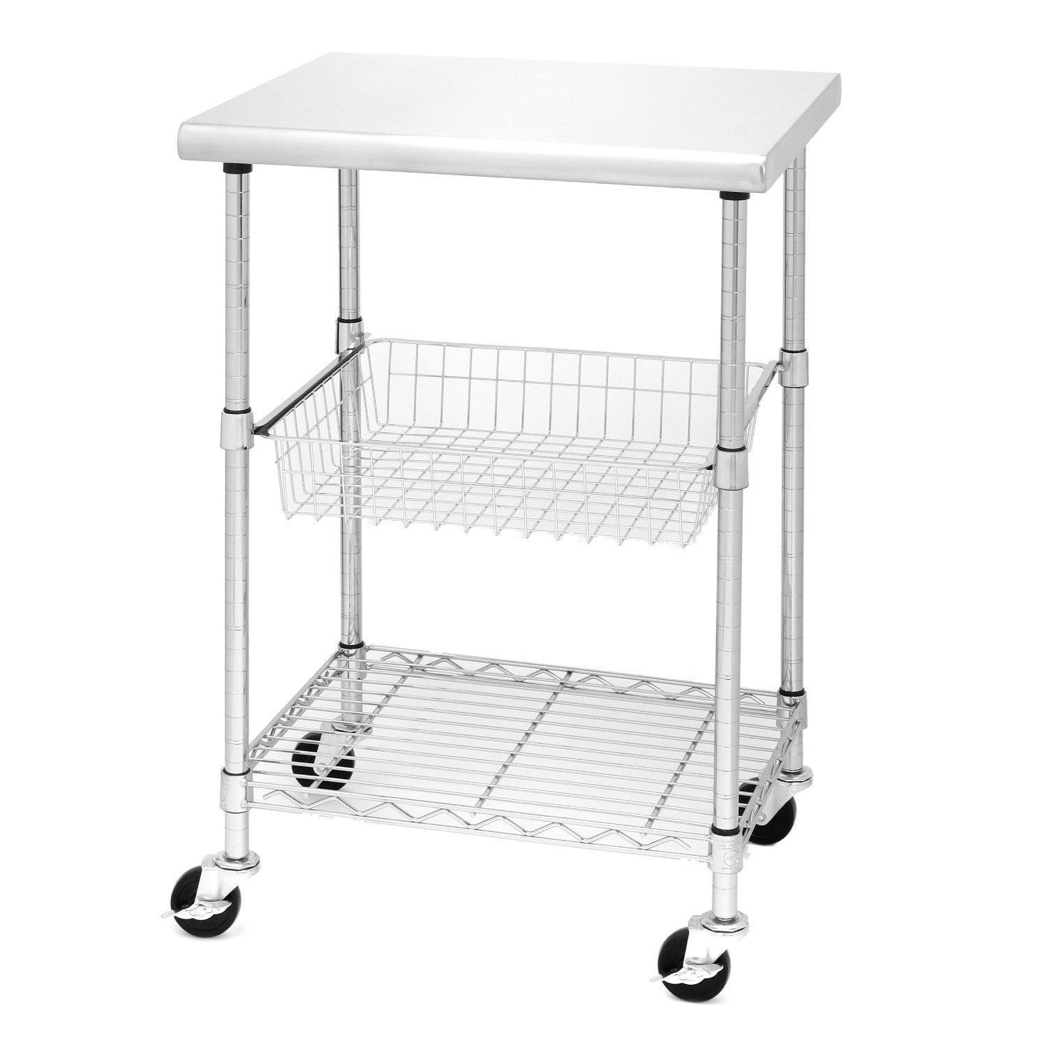 Seville Classics Stainless Steel Professional Kitchen Cart