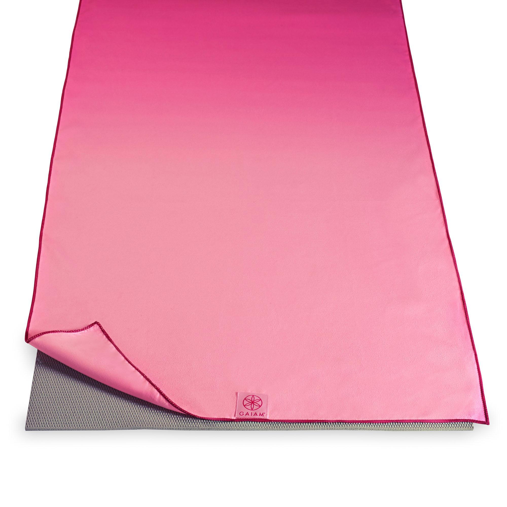 Amazon Com Gaiam Hot Yoga Mat Towel Pink Fandango