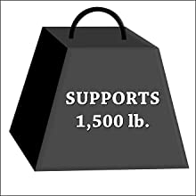 Enormous 1,500 lbs Weigh Support!