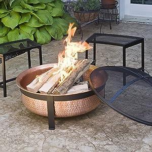 CobraCo Copper Fire Pit In Use