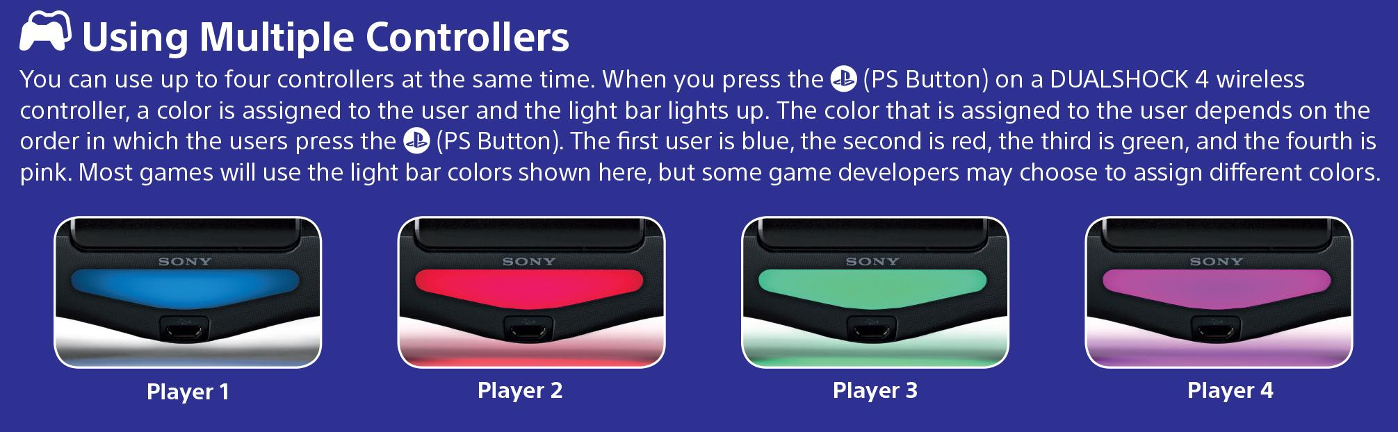 Ps4 Controller Light Colors