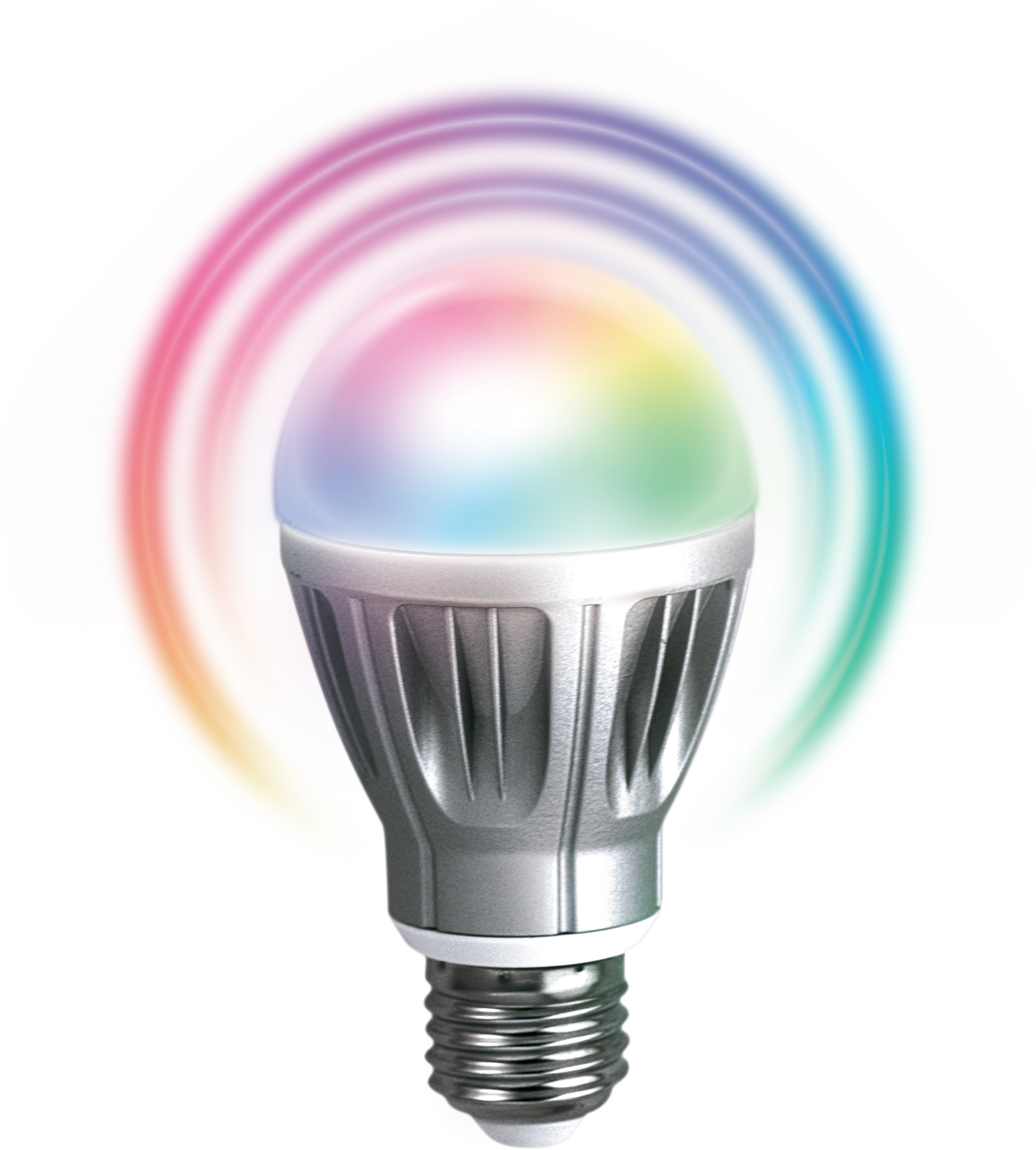 Zipato rgbw led z wave 6 7 watt bulb with 5 color channels for Colored light bulbs