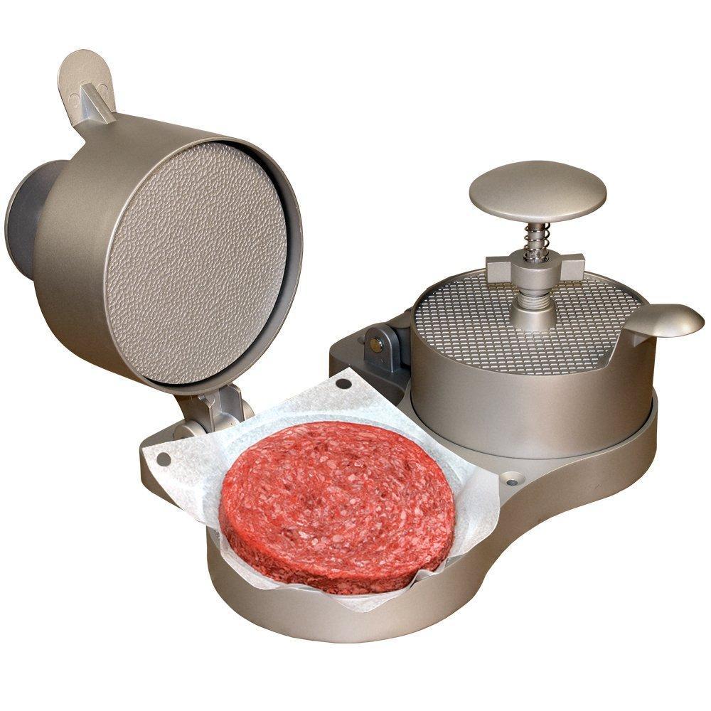 Non-stick single hamburger press