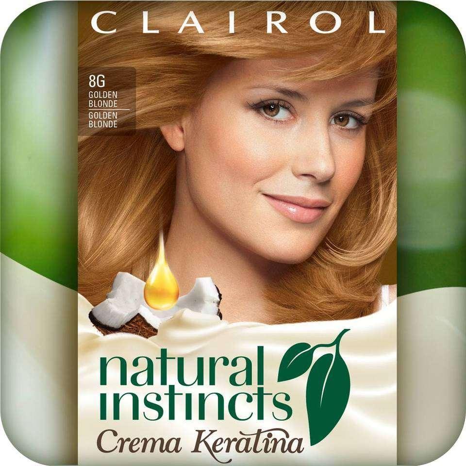 Clairol Natural Instincts Crema Keratina Hair Color Kit, Golden Blonde
