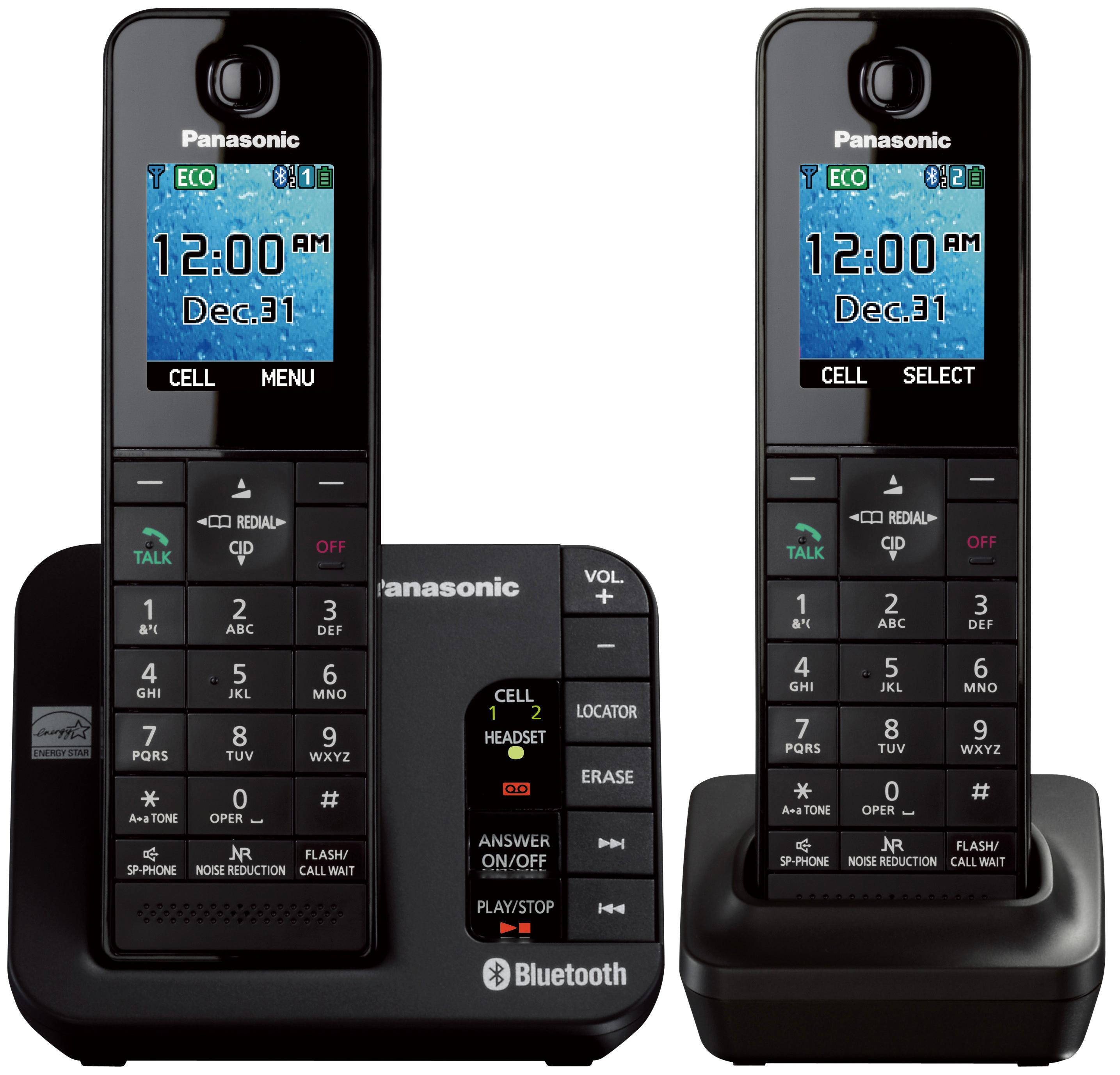 Amazon.com: Panasonic KX-TGH262B Link2Cell Bluetooth ...