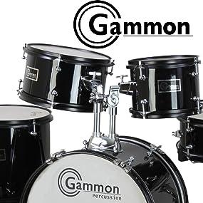 blue junior drum set gammon