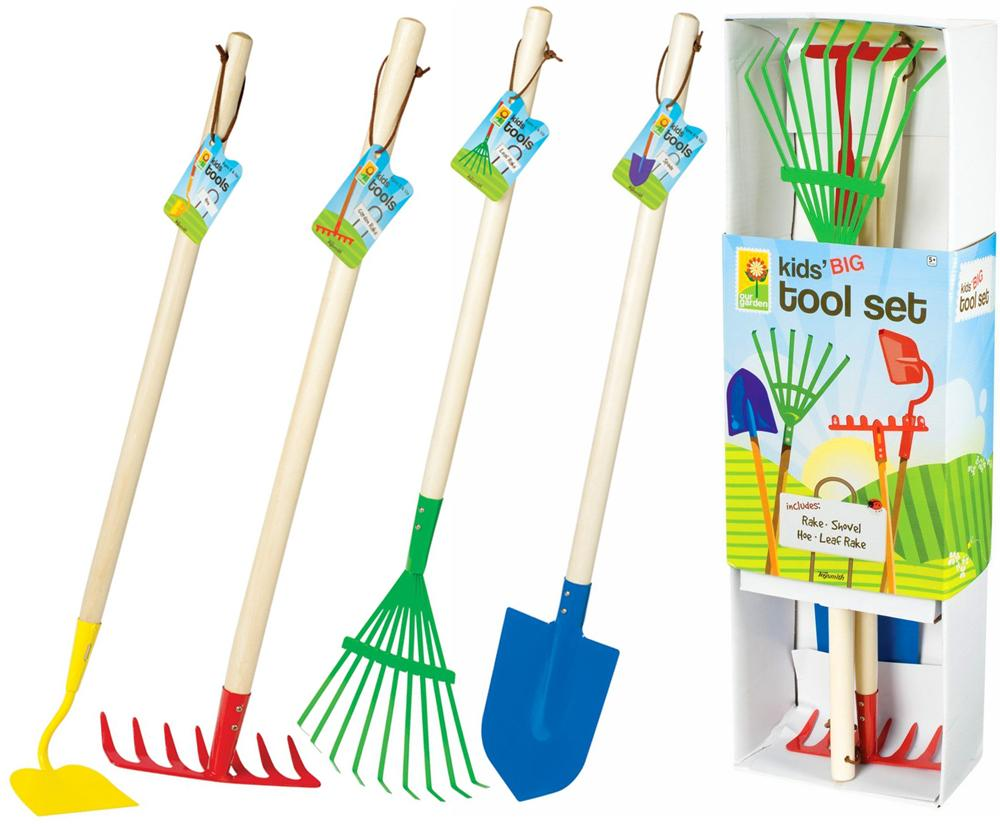Toysmith big kids garden tool set toys games for Gardening tools on amazon