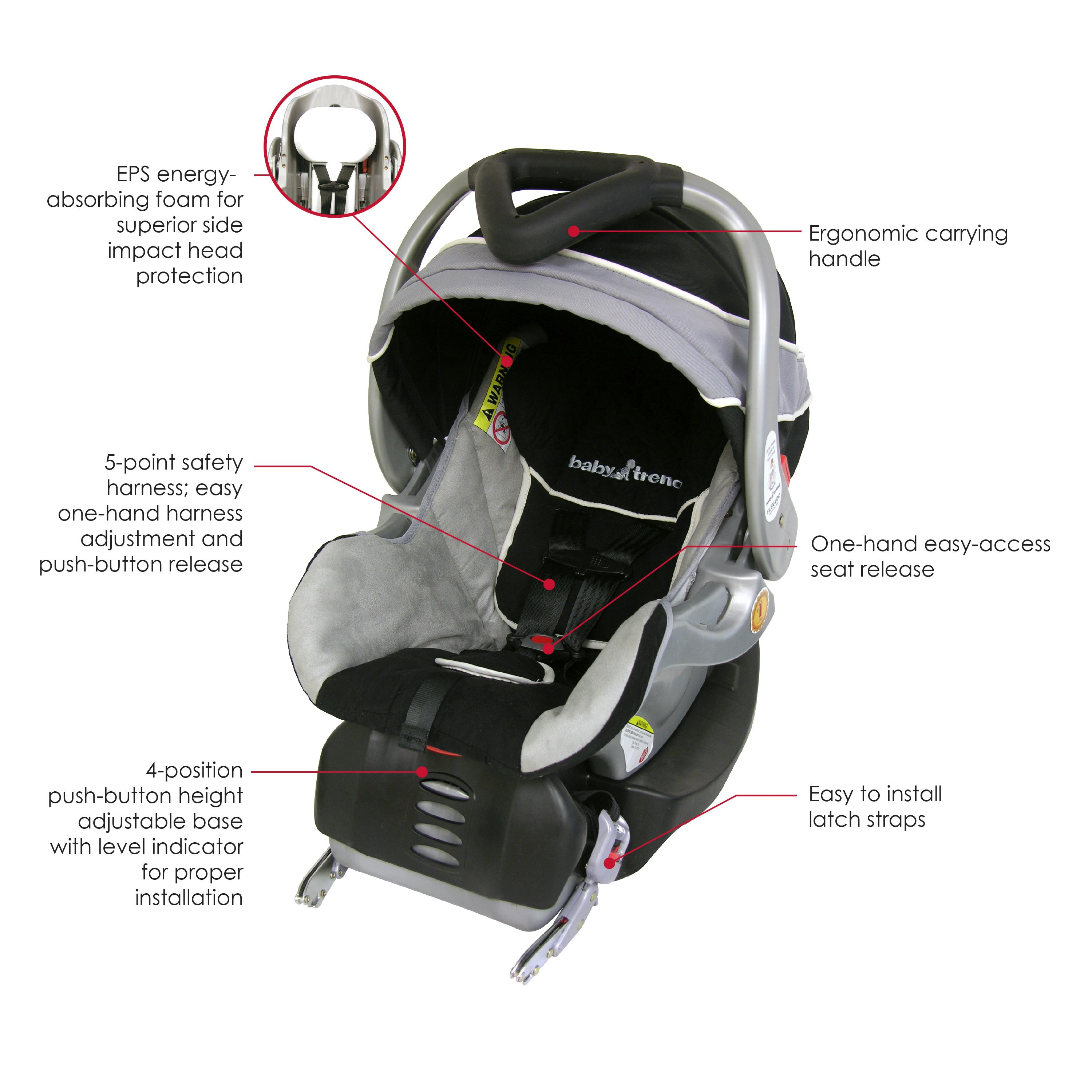 baby trend flex loc infant car seat phantom 5 30 pounds baby. Black Bedroom Furniture Sets. Home Design Ideas