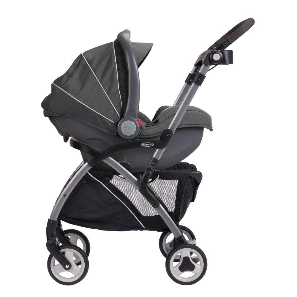 Car Seats Stroller Combo Graco SnugRider Elite Stroller and Car Seat Carrier, Black