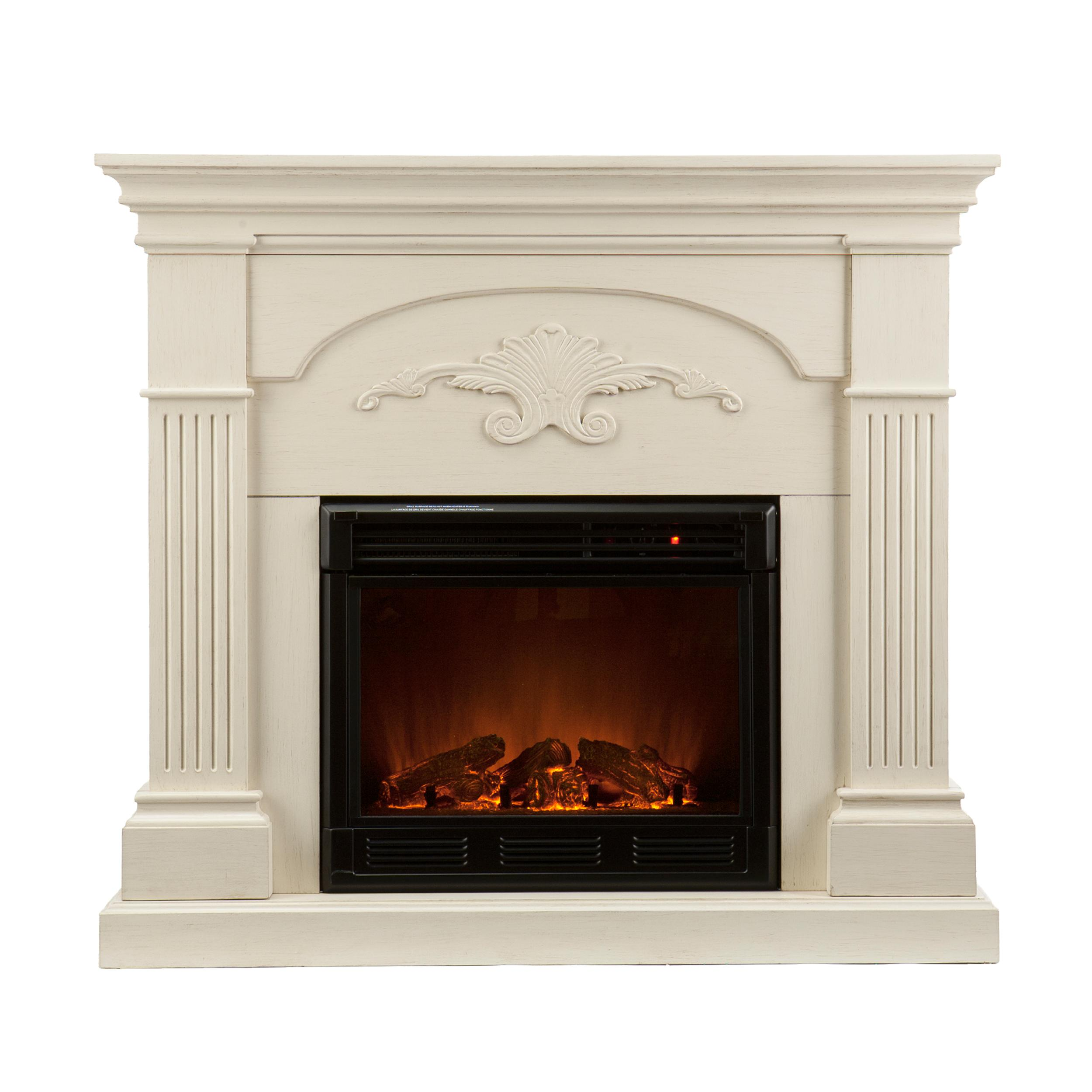 Southern Enterprises Sicilian Harvest Ivory Electric Fireplace Gel Fuel Fireplaces