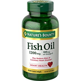 Nature 39 s bounty fish oil 1200 mg odorless 200 for Nature bounty fish oil