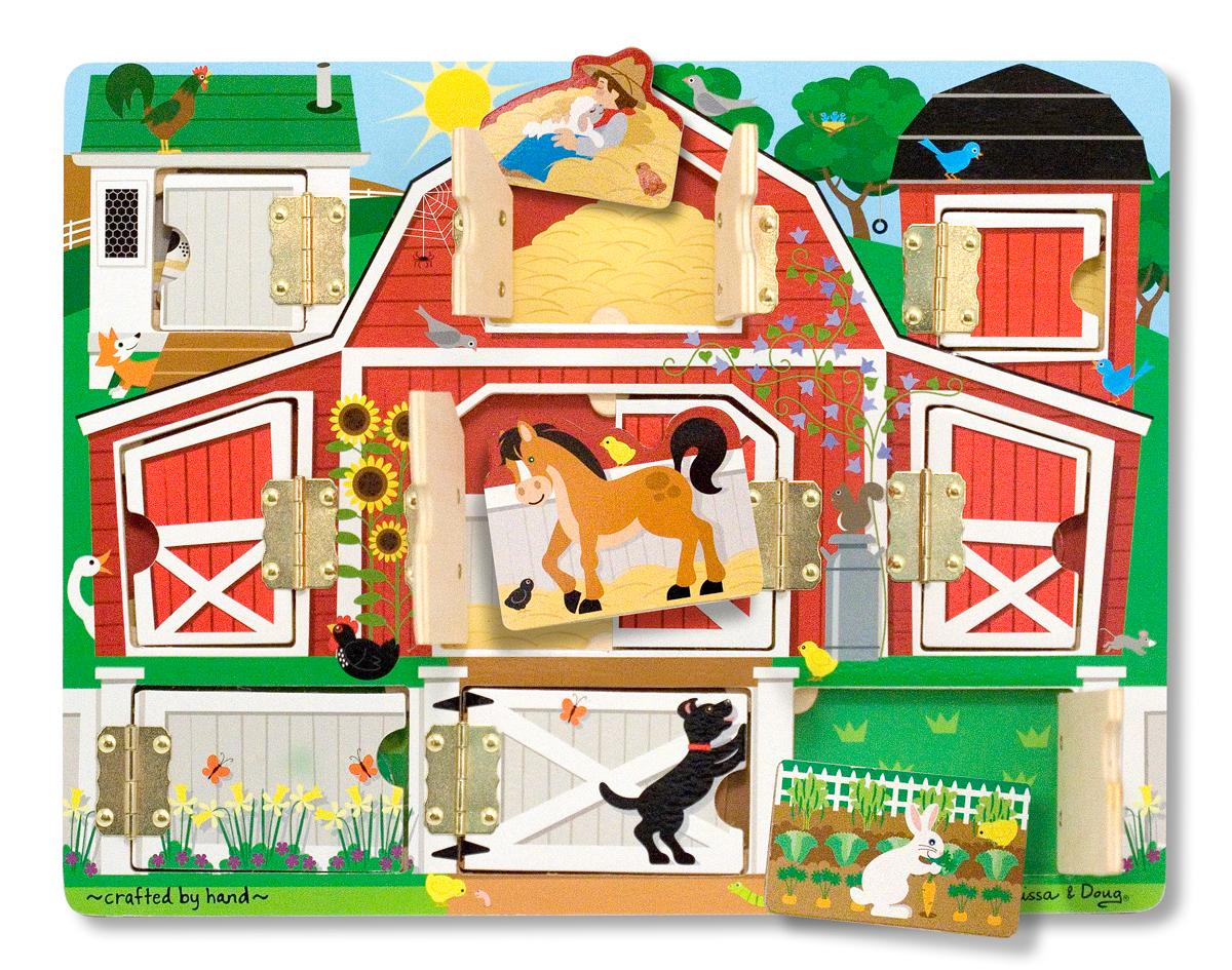 Melissa And Doug Toys : Amazon melissa doug magnetic farm hide and seek