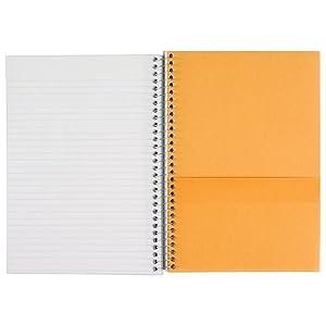 five star, 2 subject notebook, notebook, wirebound notebook, college ruled