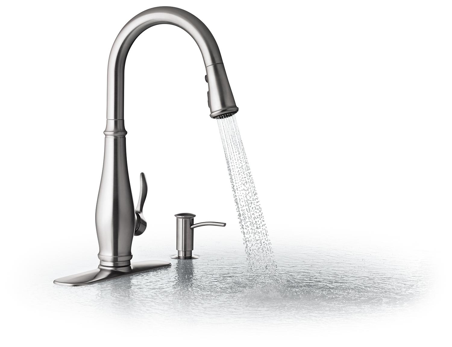kitchen faucet designed with a graceful elegance the cruette faucet ...