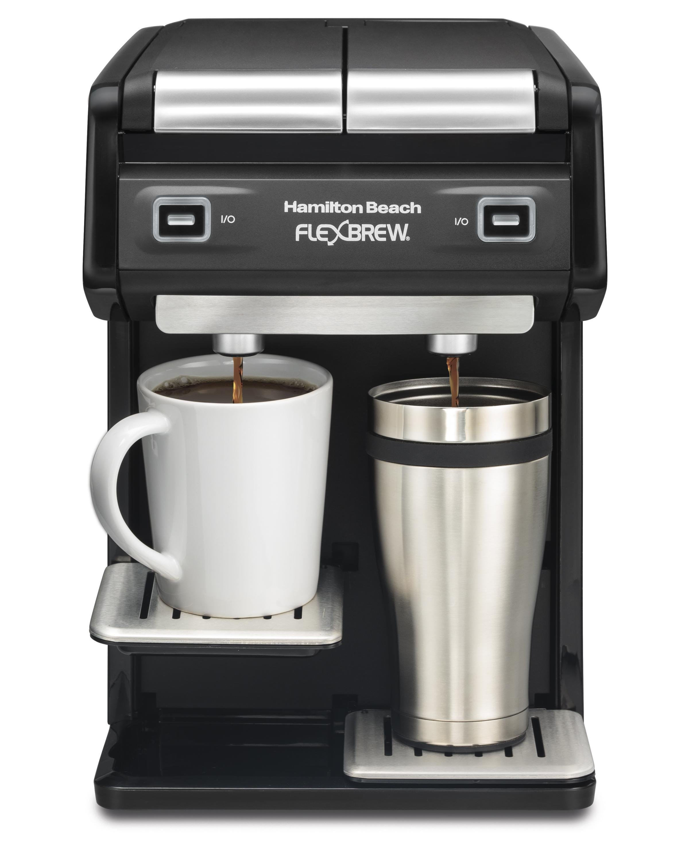 Coffee Maker Dual Brew : Amazon.com: Hamilton Beach 49998 FlexBrew Dual Single Serve Coffee Maker, Black: Kitchen & Dining