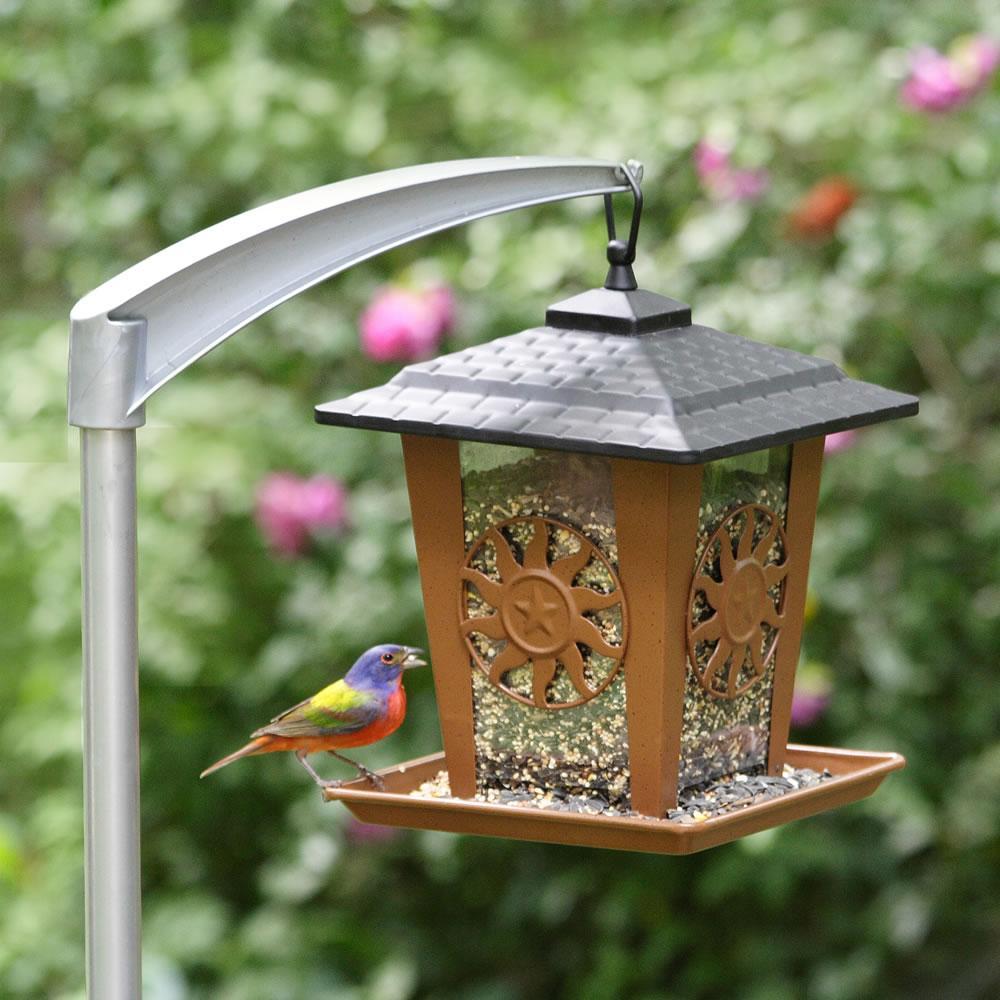Perky pet 5107 4 universal bird feeder pole for Bird feed tin