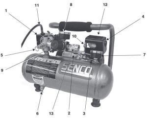 Compressor part diagram
