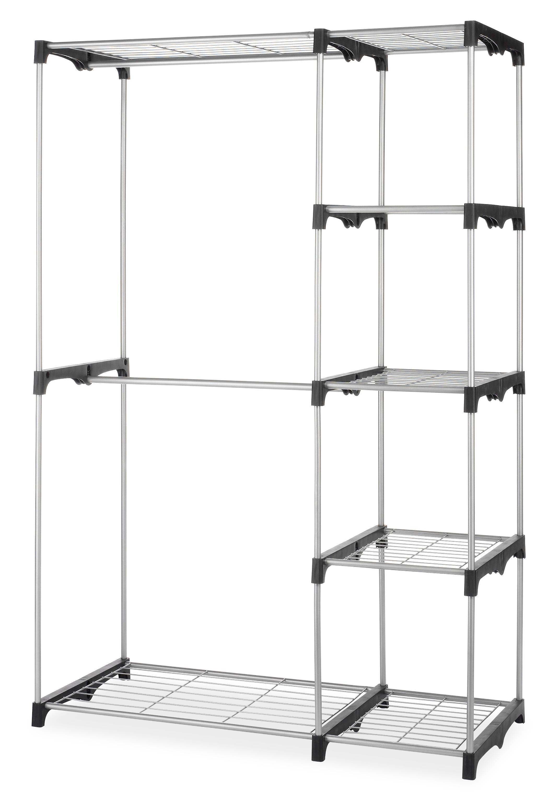 whitmor 6779 3044 double rod closet silver. Black Bedroom Furniture Sets. Home Design Ideas