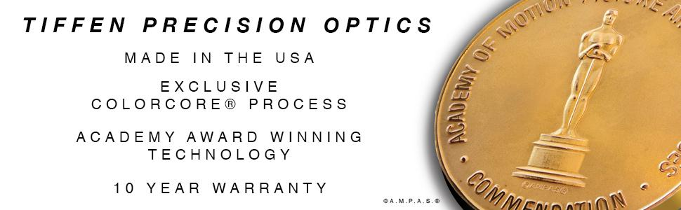 Tiffen Precision Optics Academy Award Winning Technology Exclusive ColorCore Technology Made in USA