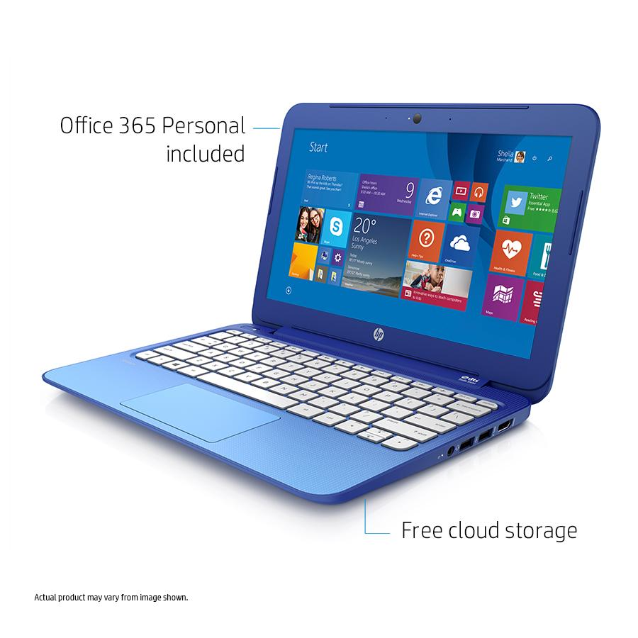 hp stream 11 laptop with office 365 personal for one year blue 2 day shipping ebay. Black Bedroom Furniture Sets. Home Design Ideas
