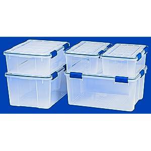 Amazoncom Ziploc Weathertight Storage Box Set Large