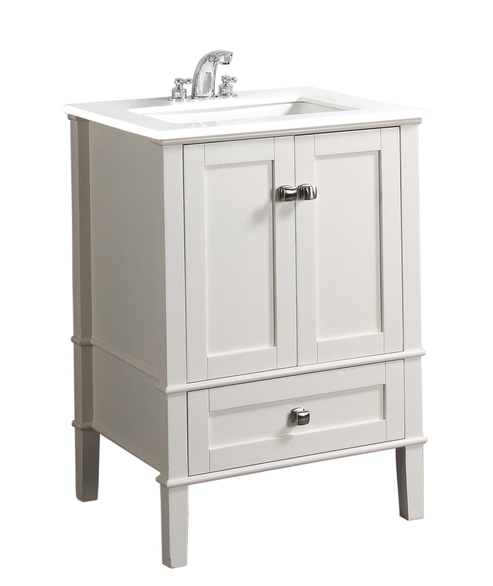 24 bath vanity with white quartz marble top bathroom vanities