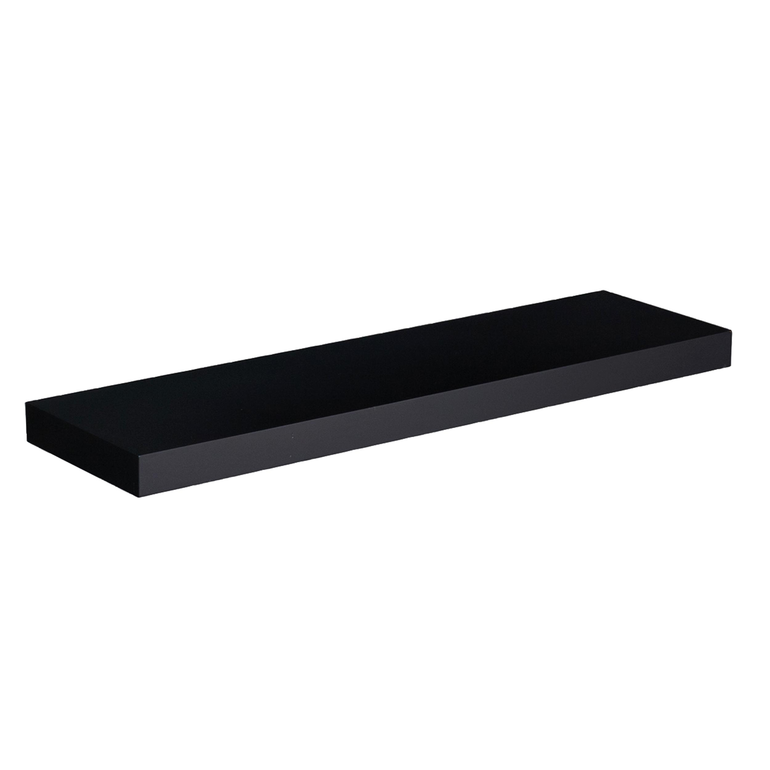 Southern Enterprises Chicago Floating Shelf, 36-Inch, Black
