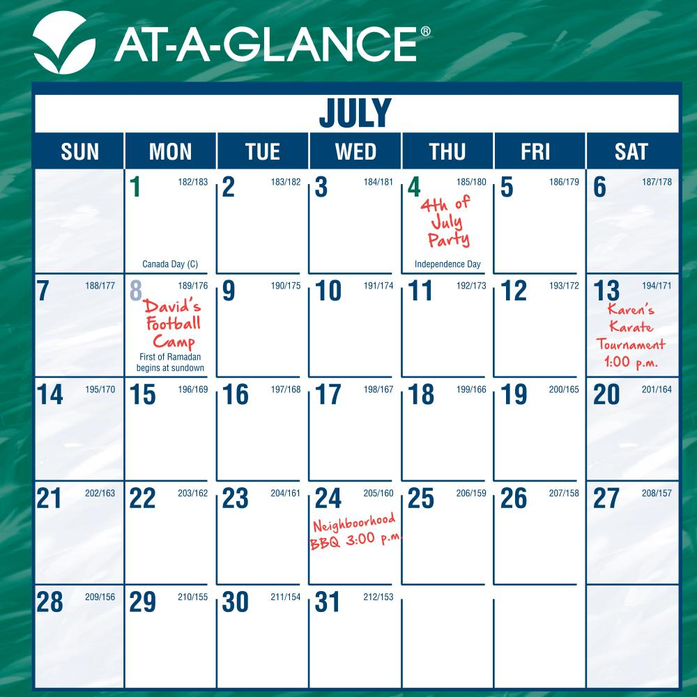 Monthly Wall Calendar : Amazon at a glance mini erasable monthly wall